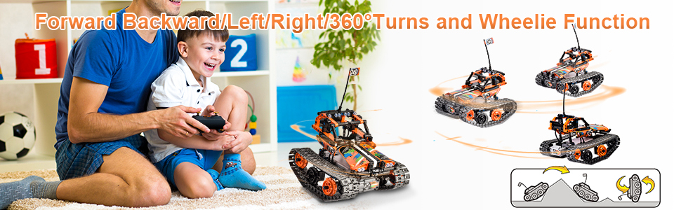2191a98a f63e 4fab a586 2fba0b5fa24c.  CR0,0,970,300 PT0 SX970 V1    - OASO Remote Control STEM Building Kit for Boys 8-12, 392 Pcs Science Learning Educational Building Blocks for Kids, 3 in 1 Tracked Racer RC Car/Tank/Robot Toys Gift Sets for Boys Girls