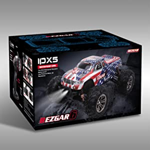 2938523e b934 404d 88ac 76511782434e.  CR0,0,2500,2500 PT0 SX300 V1    - BEZGAR 6 Hobbyist Grade 1:16 Scale Remote Control Truck, 4WD High Speed 40+ Kmh All Terrains Electric Toy Off Road RC Monster Vehicle Car Crawler with 2 Rechargeable Batteries for Boys Kids and Adults