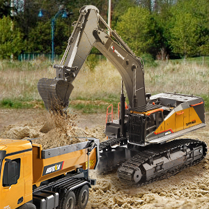 2feeecd4 a685 4657 93d3 5c449f7f9f73.  CR0,0,300,300 PT0 SX300 V1    - kolegend Remote Control Excavator Toy 1/14 Scale RC Excavator, 22 Channel Upgrade Full Functional Construction Vehicles Rechargeable RC Truck with Metal Shovel and Lights Sounds