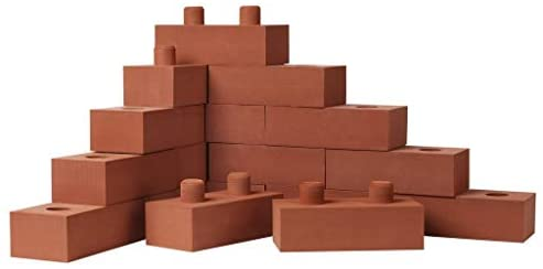 """31E2XEd5AFL. AC  - Build Me STEM Brick Building Blocks for Kids, 25 Piece Foam Block Builders Set for Construction and Stacking - 8"""" Pretend Play Bricks for Kids Toddlers"""