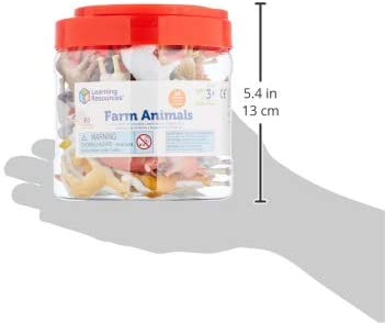 31amkg+OeQL. AC  - Learning Resources Farm Animal Counters, 10 Different Animals, Set of 60, Ages 3+