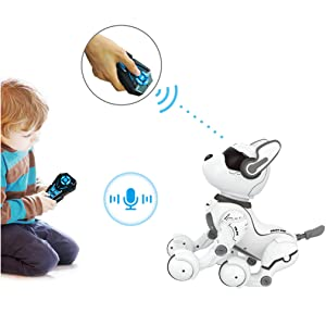 3adc243d 251c 47b1 bd3e f8192da68584.  CR0,0,1011,1011 PT0 SX300 V1    - Remote Control Robot Dog Toy, Robots for Kids, Rc Dog Robot Toys for Kids 3,4,5,6,7,8,9,10 Year Old and up, Smart & Dancing Robot Toy, Imitates Animals Mini Pet Dog Robot…