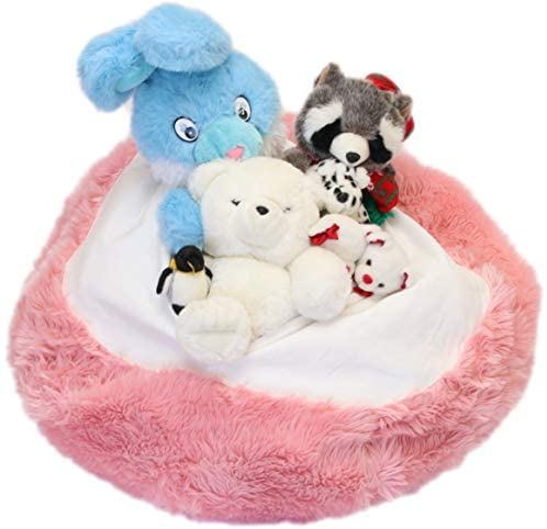 41+ 7w7OgqL. AC  - Fluffy Stuffs | Super Soft Furry Stuffed Animal Storage Bean Bag Chair Cover for Kids | Premium Plush Fur | Canvas Handle | Make Bedroom Clutter Comfortable and Fun for Children | Machine Washable