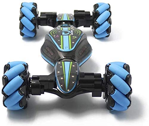 412Vf8sh73L. AC  - GoolRC RC Stunt Car, 4WD 2.4GHz Remote Control Car, Deformable All-Terrain Off Road Car, 360 Degree Flips Double Sided Rotating Race Car with Gesture Sensor Watch Lights Music for Kids (Blue)