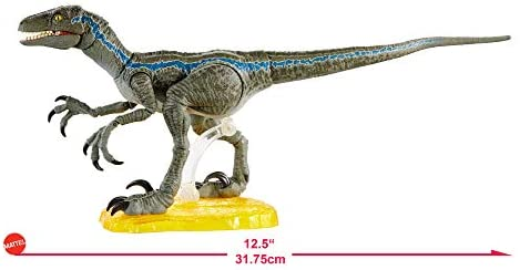 412l5C3vyFL. AC  - Jurassic World Velociraptor Blue 6-inches Collectible Action Figure with Movie-Authentic Detail, Movable Joints and Figure Display Stand; for Ages 4 and Up