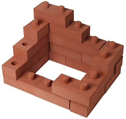 """414rEF7K UL. AC  - Build Me STEM Brick Building Blocks for Kids, 25 Piece Foam Block Builders Set for Construction and Stacking - 8"""" Pretend Play Bricks for Kids Toddlers"""