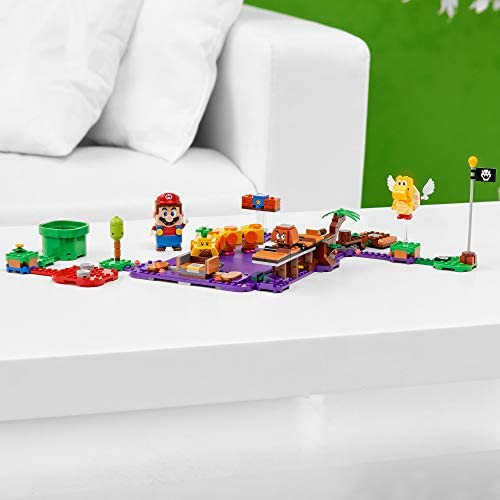 416eePW5+1L. AC  - LEGO Super Mario Wiggler's Poison Swamp Expansion Set 71383 Building Kit; Unique Gift Toy Playset for Creative Kids, New 2021 (374 Pieces)