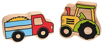 419N7ubmRlL. AC  - The Freckled Frog Happy Architect - Farm - Set of 26 - Ages 2+ - Wooden Blocks for Preschoolers and Elementary Aged Kids - Includes Farmers, Animals and Buildings