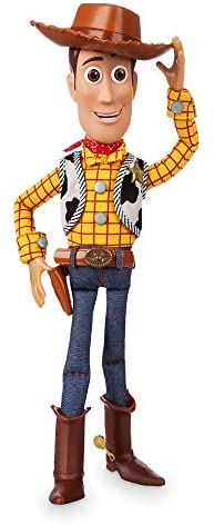 41BpdF5PClL. AC  - Disney Woody Interactive Talking Action Figure - Toy Story 4 - 15 Inches