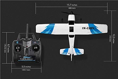 41BvR4Mr1 L. AC  - Top Race Rc Plane 3 Channel Remote Control Airplane Ready to Fly Rc Planes for Adults, Easy & Ready to Fly, Great Gift Toy for Adults or Advanced Kids, Upgraded with Propeller Saver (TR-C285G)