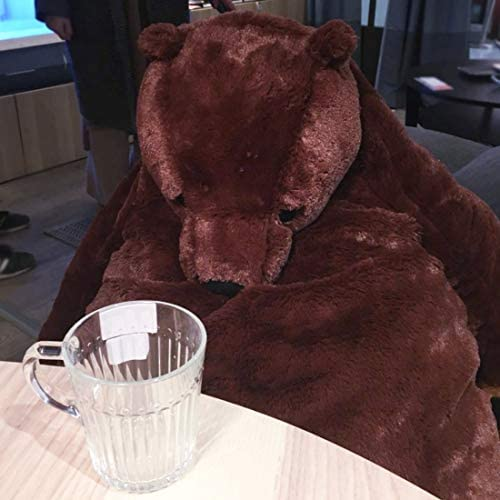 41CG7Z78c3L. AC  - Giant Simulation Bear Toy Plush Toy Pillow Soft Animal Stuffed Plush Doll Home Decor Birthday Gift (100CM/39.4IN)