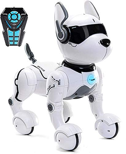 41Eiwv06+wL. AC  - Remote Control Robot Dog Toy, Robots for Kids, Rc Dog Robot Toys for Kids 3,4,5,6,7,8,9,10 Year Old and up, Smart & Dancing Robot Toy, Imitates Animals Mini Pet Dog Robot…