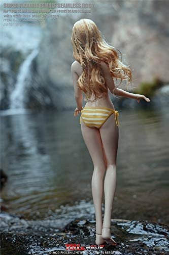 41GTxwYcjlL. AC  - HiPlay TBLeague 1/6 Scale 12 inch Female Seamless Action Figures- Anime Girls, Large Bust, Pale Skin S36/S37 (S37 ( Head Included, with Yellow Bikini ))