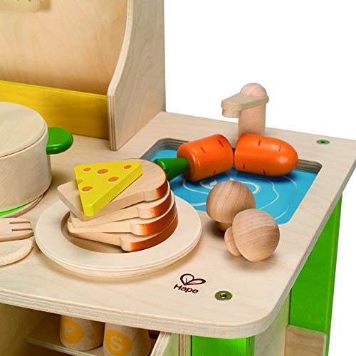 41Gr2qYPCnL. AC  - Hape My Creative Cookery Club Kid's Wooden Play Kitchen