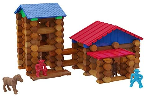 41IBfy80OiL. AC  - Lincoln Logs Centennial Edition Tin Amazon Exclusive-150+ Pieces-Real Wood-Ages 3+-Best Retro Building Gift Set for Boys/Girls-Creative Construction Engineering-Top Blocks Kit-Preschool Education Toy