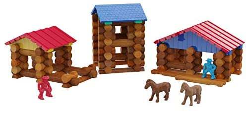 41NX7jWETxL. AC  - Lincoln Logs Centennial Edition Tin Amazon Exclusive-150+ Pieces-Real Wood-Ages 3+-Best Retro Building Gift Set for Boys/Girls-Creative Construction Engineering-Top Blocks Kit-Preschool Education Toy