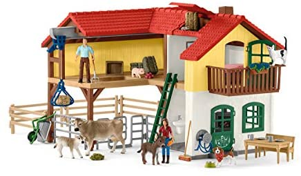 41PiXlgCmoL. AC  - Schleich Farm World Large Toy Barn and Farm Animals 52-piece Playset for Toddlers and Kids Ages 3-8 Multi, 19.3 Inch