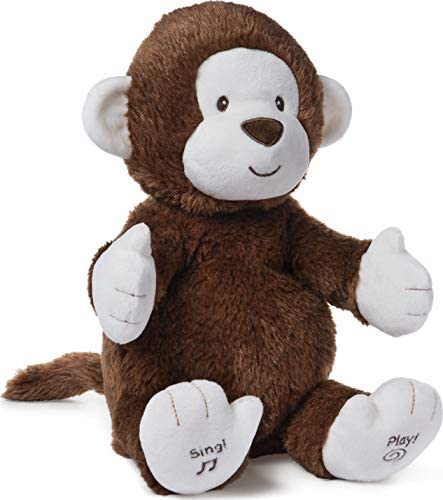 """41QjMe1S2JL. AC  - Baby GUND Animated Clappy Monkey Singing and Clapping Plush Stuffed Animal, Brown, 12"""""""