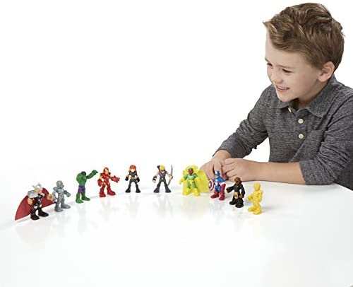 41Qpjqz3BrL. AC  - Playskool Heroes Marvel Super Hero Adventures Ultimate Super Hero Set, 10 Collectible 2.5-Inch Action Figures, Toys for Kids Ages 3 and Up (Amazon Exclusive)