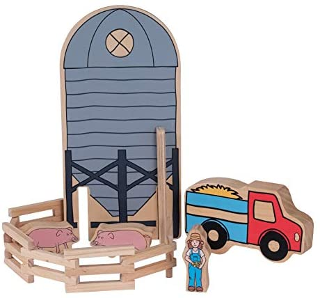 41W5Zp+qGuL. AC  - The Freckled Frog Happy Architect - Farm - Set of 26 - Ages 2+ - Wooden Blocks for Preschoolers and Elementary Aged Kids - Includes Farmers, Animals and Buildings