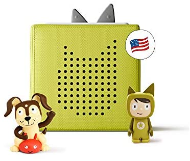 41WhmA8EwuL. AC  - Toniebox Starter Set Green + Playtime Action - Educational Musical Toy for Boys and Girls - Imagination-Building, Screen-Free Digital Listening Experience That Plays Stories, Songs, and More