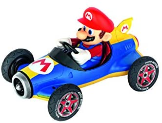 41XmlGKunhL. AC  - Carrera 181066 RC Official Licensed Kart Mach 8 Mario 1: 18 Scale 2.4 Ghz Remote Radio Control Car with Rechargeable Lifepo4 Battery - Kids Toys Boys/Girls