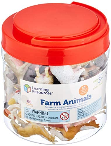 41YDnfUQZqL. AC  - Learning Resources Farm Animal Counters, 10 Different Animals, Set of 60, Ages 3+