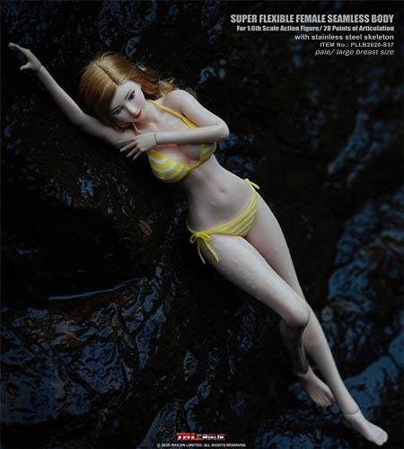 41bD8oCdp5L. AC  - HiPlay TBLeague 1/6 Scale 12 inch Female Seamless Action Figures- Anime Girls, Large Bust, Pale Skin S36/S37 (S37 ( Head Included, with Yellow Bikini ))