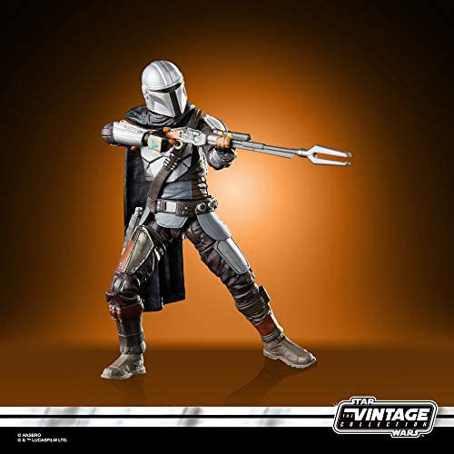 41bfDXHQNYL. AC  - STAR WARS The Vintage Collection The Mandalorian Toy, 3.75-Inch-Scale The Mandalorian Action Figure, Toys for Kids Ages 4 and Up