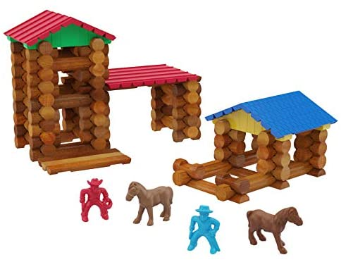41byTn ZiOL. AC  - Lincoln Logs Centennial Edition Tin Amazon Exclusive-150+ Pieces-Real Wood-Ages 3+-Best Retro Building Gift Set for Boys/Girls-Creative Construction Engineering-Top Blocks Kit-Preschool Education Toy