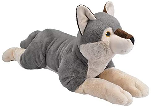 41gg6aybFeL. AC  - Wild Republic Ecokins Jumbo Wolf, Stuffed Animal, 30 inches, Gift for Kids, Plush Toy, Made from Spun Recycled Water Bottles, Eco Friendly, Child's Room Decor