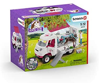 41gmoKxHJAL. AC  - Schleich Horse Club, 17-Piece Playset, Horse Toys for Girls and Boys 5-12 years old Mobile Vet