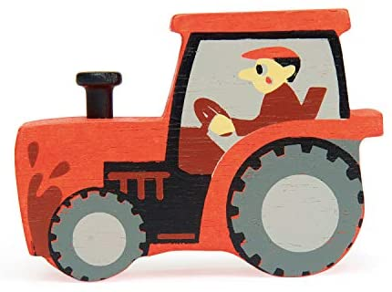 41i27vBZuhL. AC  - Tender Leaf Toys Farmyard Animals – 13 Wooden Country Farm Figurines with a Display Shelf - Classic Toy for Pretend Play – Develops Creative & Imaginative Skills – Learning Role Play – Ages 3+ Years