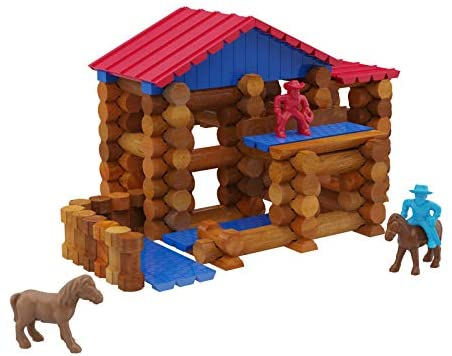 41ieSXh+KyL. AC  - Lincoln Logs Centennial Edition Tin Amazon Exclusive-150+ Pieces-Real Wood-Ages 3+-Best Retro Building Gift Set for Boys/Girls-Creative Construction Engineering-Top Blocks Kit-Preschool Education Toy