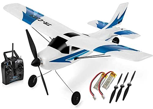 41q xtfWbhL. AC  - Top Race Rc Plane 3 Channel Remote Control Airplane Ready to Fly Rc Planes for Adults, Easy & Ready to Fly, Great Gift Toy for Adults or Advanced Kids, Upgraded with Propeller Saver (TR-C285G)
