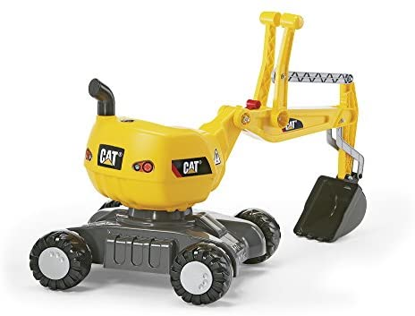 41rCIMaHdEL. AC  - rolly toys CAT Construction Ride-On: 360-Degree Excavator/Shovel Digger, Youth Ages 3+