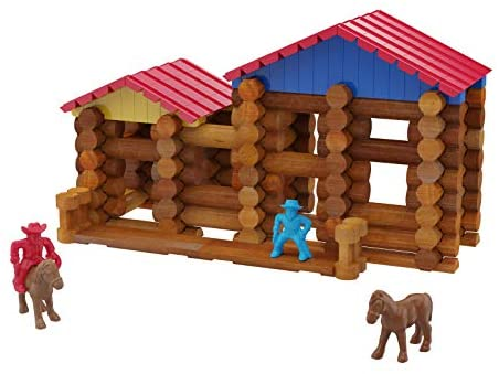 41rF8LTSR7L. AC  - Lincoln Logs Centennial Edition Tin Amazon Exclusive-150+ Pieces-Real Wood-Ages 3+-Best Retro Building Gift Set for Boys/Girls-Creative Construction Engineering-Top Blocks Kit-Preschool Education Toy