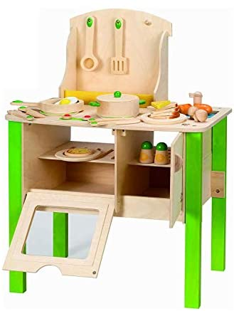 41ryYpm0nHL. AC  - Hape My Creative Cookery Club Kid's Wooden Play Kitchen