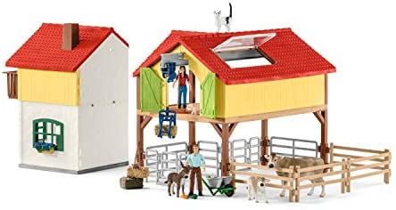 41tKcXEpokL. AC  - Schleich Farm World Large Toy Barn and Farm Animals 52-piece Playset for Toddlers and Kids Ages 3-8 Multi, 19.3 Inch