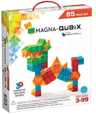 41upqBRkg5L. AC  - Magna-Qubix 85-Piece Set, The Original Magnetic Building Blocks for Creative Open-Ended Play, Educational Toys for Children Ages 3 Years +