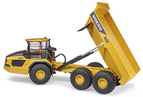 41xceZiOZfL. AC  - Bruder 02455 Volvo A60H Articulated Hauler Vehicles - Toys