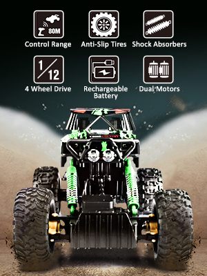 4c80f223 bd66 4b0e 8cdc 939f01dc2391. CR0,0,300,400 PT0 SX300   - DOUBLE E RC Car 1:12 Remote Control Car Monster Trucks with Head Lights 4WD Off All Terrain RC Car Rechargeable Vehicles