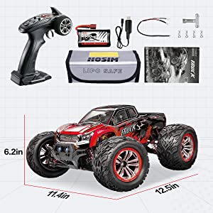 5047d84e 3e89 41a4 83b9 ec327228f368.  CR0,0,1200,1200 PT0 SX300 V1    - Hosim 1:12 Scale 46+ kmh High Speed RC Cars - Boys Remote Control Cars 4WD 2.4GHz Off Road RC Monster Trucks for Adults Kids.Electric Power Radio Control Cars Gift for Children (Red)
