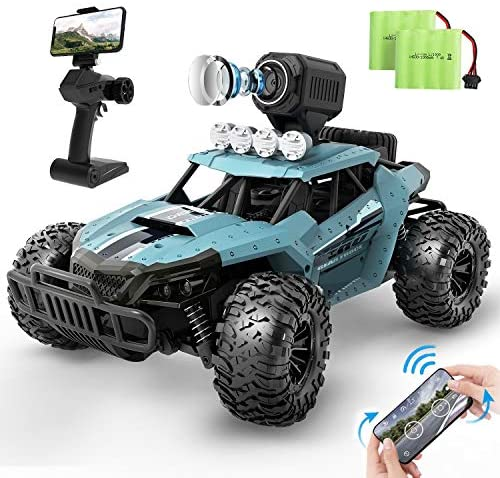 51 GcJvgecL. AC  - DEERC RC Cars DE36W Remote Control Car with 720P HD FPV Camera, 1/16 Scale Off-Road Remote Control Truck, High Speed Monster Trucks for Kids Adults 2 Batteries for 60 Min Play, Gift for Boys and Girls