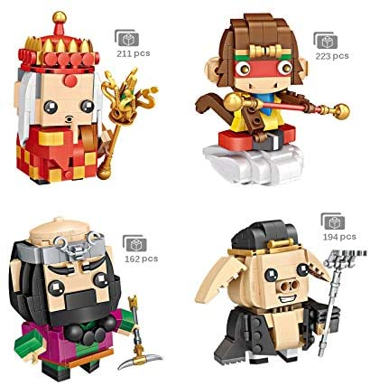 5106VWv+e+L. AC  - LoveIyPet 4 in 1 Mini Journey to The West Character Dolls Building Blocks Set Micro Granule 3D Puzzle DIY Construction Toy for Kids Adults Gifts