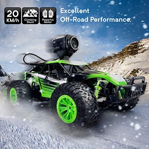 510IostZUlL. AC  - Gizmovine Remote Control Car with Camera, High Speed Racing Off-Road RC Cars with 2 Rechargeable Batteries, Waterproof RC Monster Trucks Buggy Vehicle Electric Toy Cars for All Kids Boy