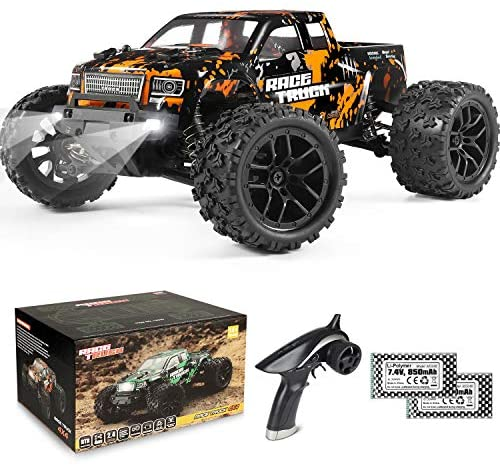 511HSDIrXCL. AC  - 1:18 Scale RC Monster Truck 18859E 36km/h Speed 4X4 Off Road Remote Control Truck,Waterproof Electric Powered RC Cars All Terrain Toys Vehicles with 2 Batteries,Excellent Xmas Gifts for kid and Adults