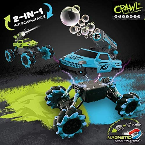 511WNplcNPL. AC  - Remote Control Car for Kids 1:14 Scale 2.4GHz RC Cars 4WD All Terrain Off Road Monster Truck 3 Modes Transformation Radio Crawler, Water Cannon, Bubble Machine, for 4-12 Year Old Boys & Girls
