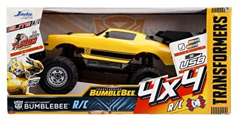 511gg5unnKL. AC  - Jada Toys Transformers Bumblebee 1977 Chevy Camaro Elite Off Road 4x4 RC