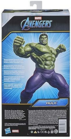 511tMhFZIRL. AC  - Avengers Marvel Titan Hero Series Blast Gear Deluxe Hulk Action Figure, 12-Inch Toy, Inspired by Marvel Comics, for Kids Ages 4 and Up